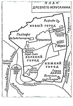 План Древнего Иерусалима