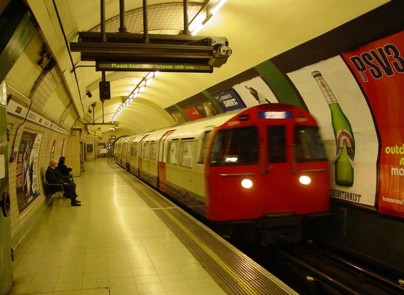 filming in the london underground without