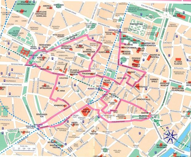 Мюнхен, карта города