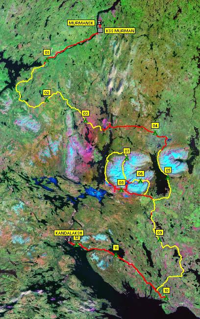 Наличие дорожного покрытия (вид на космоснимке)